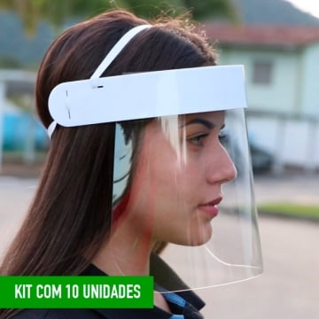 Kit 10 Pe�as Face Shield Bold