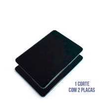 Kit com 2 Placas de ACM Preto Fosco Medidas 1220mm x 2500mm x 3mm