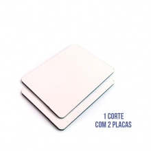 Kit com 2 Placas de ACM Branco Fosco Medidas 1220mm x 2500mm x 3mm