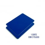 Kit com 2 Placas de ACM Azul Brilho Medidas 1220mm x 2500mm x 3mm